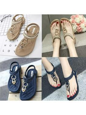 c691a987684 Product Image Women Summer Bohemia Slippers Flip Flops Flat Sandals Beach  Thong Shoes