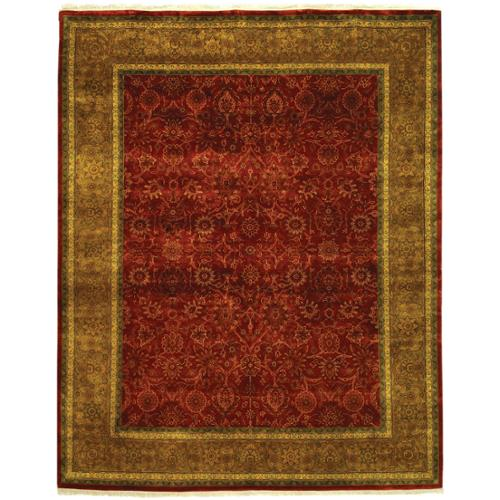Safavieh  Hand-knotted Ganges River Rust/ Green Wool Rug (9' x 12')