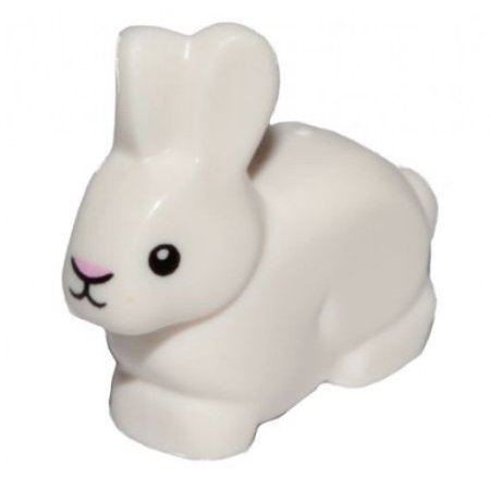 LEGO Bunny / Rabbit with Black Eyes and Pink Nose [No (Nose'n Around Rabbit Nose)