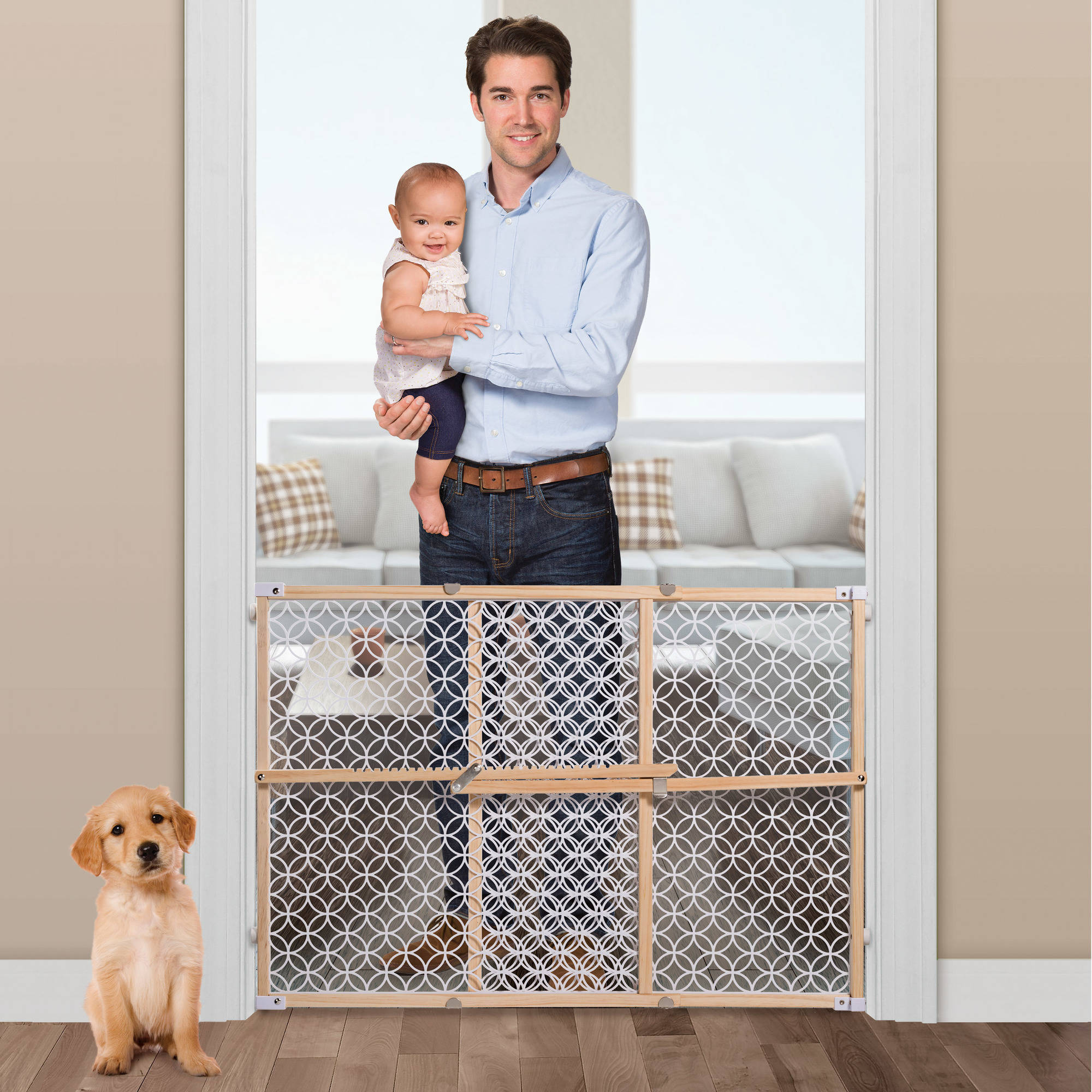 """Summer Infant Classic 27""""-42"""" Wooden Baby Gate"""