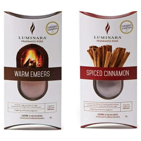 Luminara Warm Embers and Spiced Cinnamon Fragrance Pod For Luminara Fragrance Diffusing Flameless Candle - Emer Candle