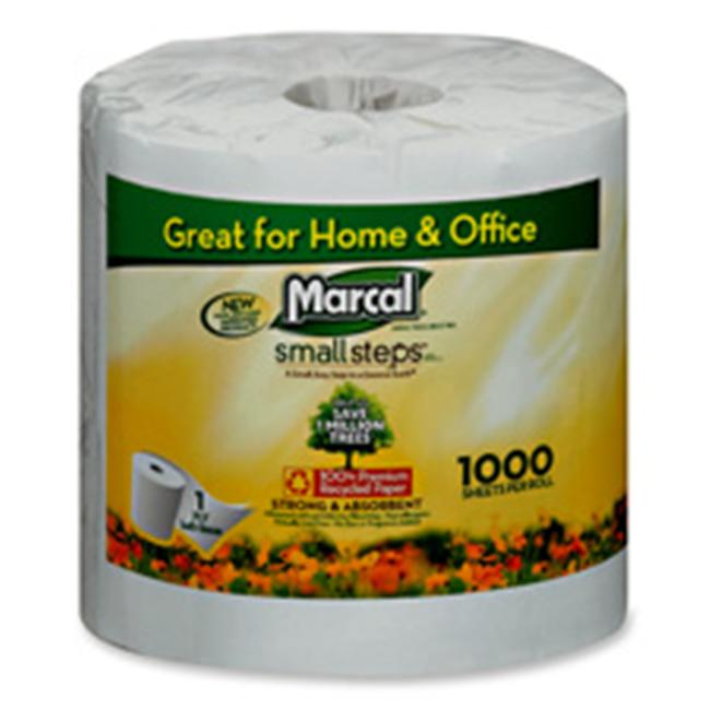 Marcal Paper Mills- Inc.  MRC04415 Bathroom Tissue- 1000 Sheets-RL- 40-CT- White