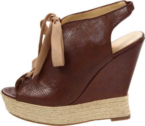 Luxury Rebel Women's Carlos 38.5 Wedge Sandal, Light Brown, 38.5 Carlos M EU/8.5 M US ed42c3