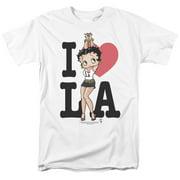 Betty Boop I Heart La Mens Short Sleeve Shirt