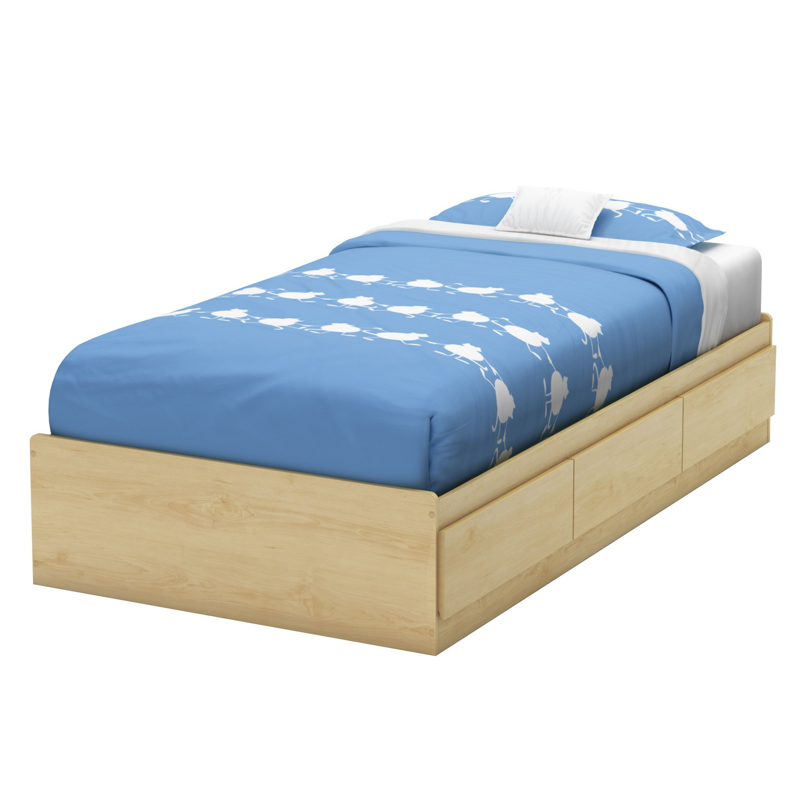 South Shore Cookie Twin Mates Bed, Mocha by South Shore