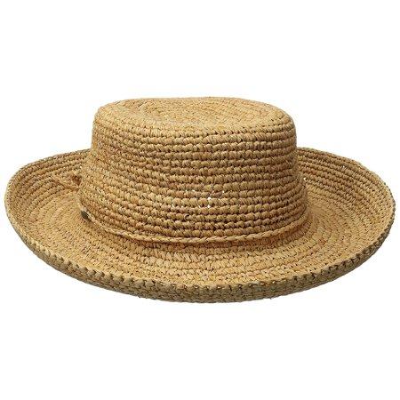 Scala Raffia - New Dorfman Scala Destin Women's Hand Crocheted Raffia Hat