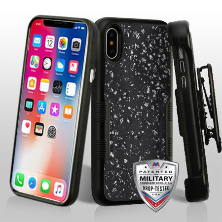 For iPhone XS/X TUFF Contempo Hybrid Impact Armor Protector Case with Holster