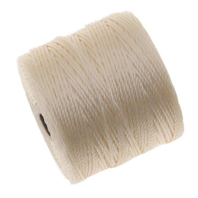 BeadSmith Super-Lon (S-Lon) Cord - Size #18 Twisted Nylon - Vanilla (77 Yard Spool)