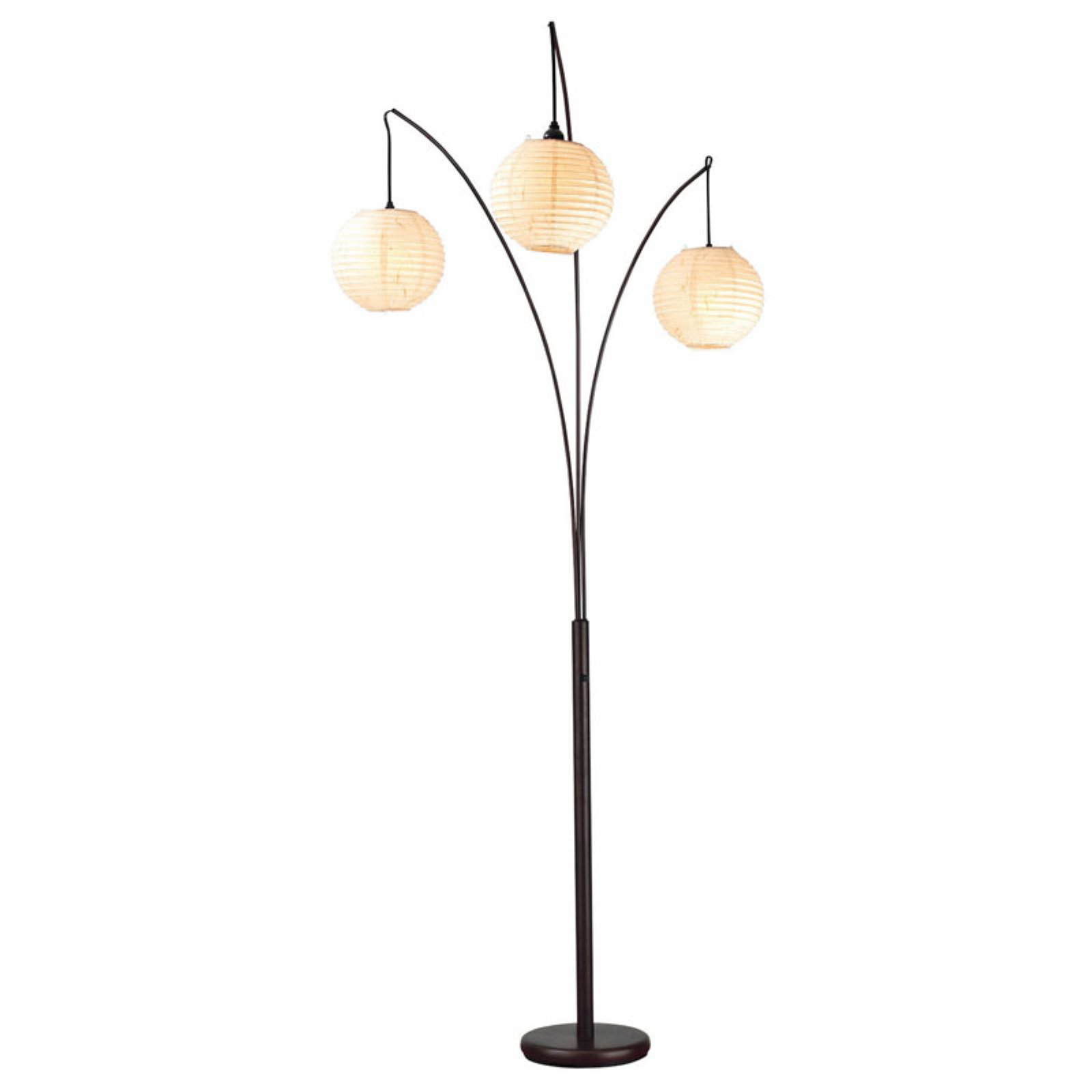 Adesso Spheres Arc Floor Lamp, Antique Bronze Finish by Adesso
