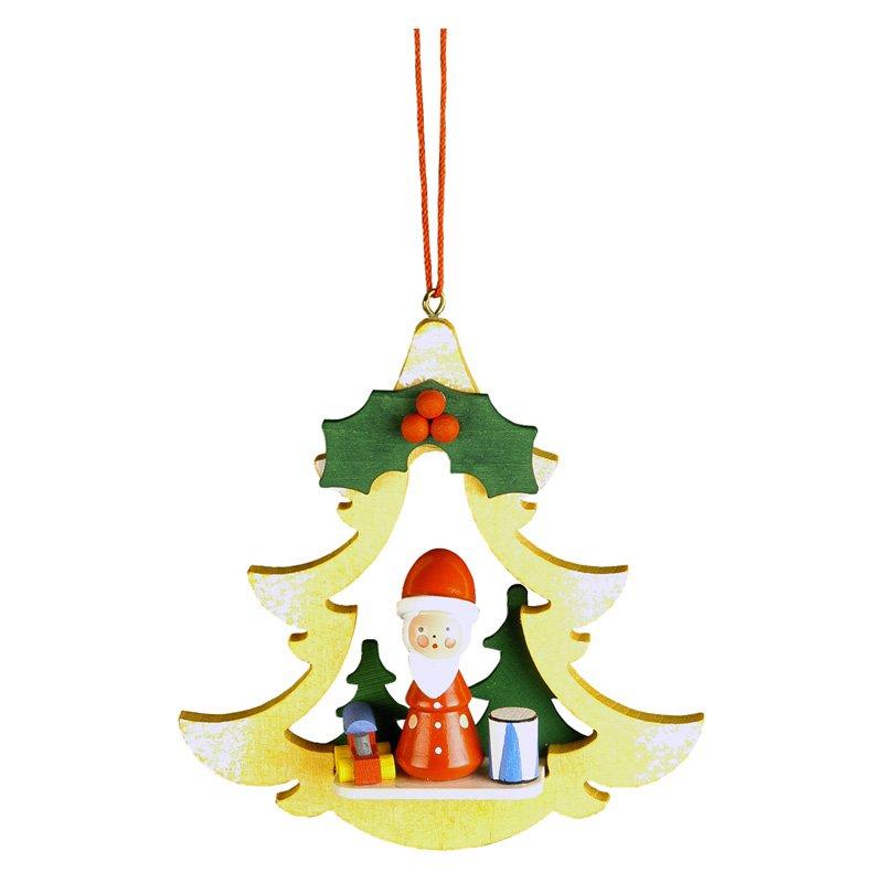 Christian Ulbricht Santa in Yellow Tree Ornament