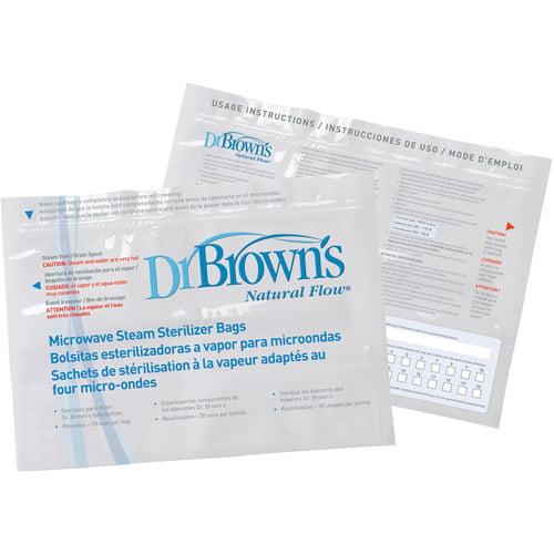 Dr. Brown's Microwave Steam Sterilizer Bags, BPA-Free