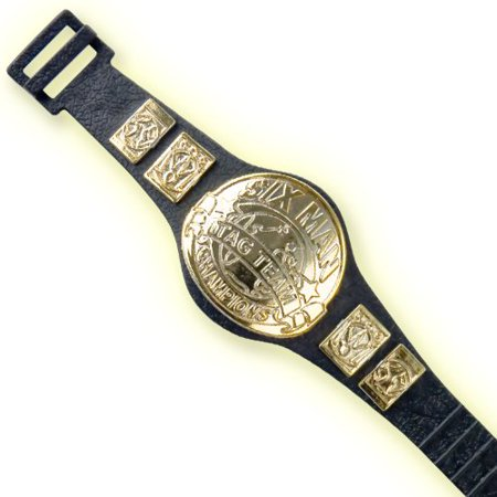 Six Man Tag Championship Belt for WWE Wrestling Action