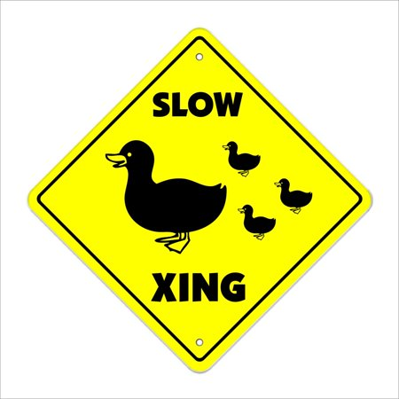 Slow Duck Crossing Sign Zone Xing | Indoor/Outdoor | 12