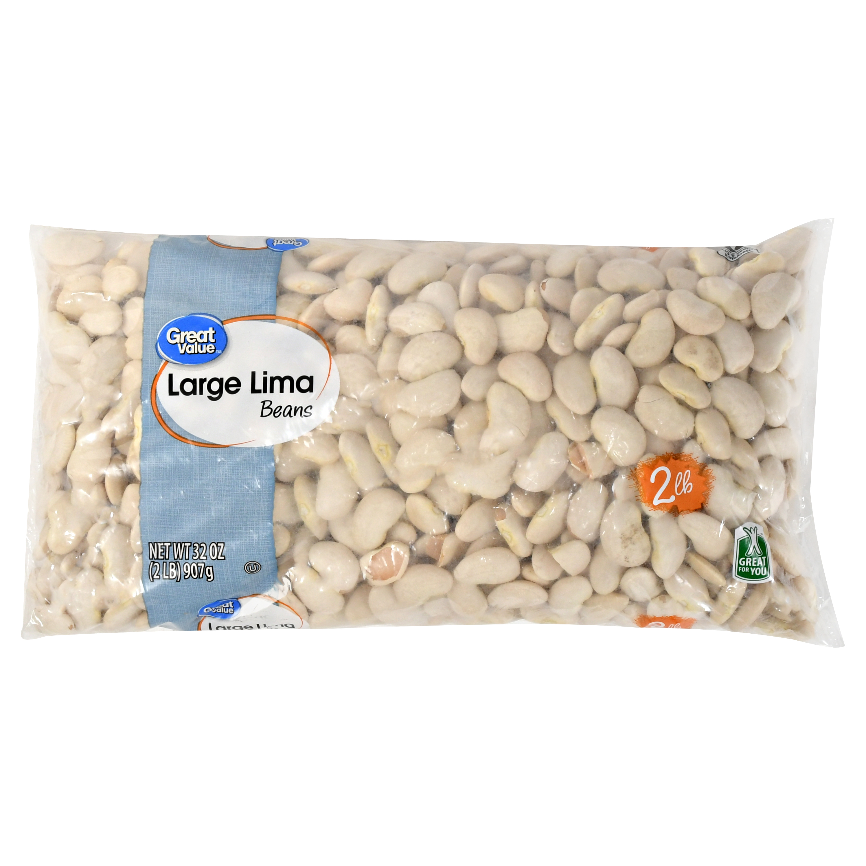 Great Value Large Lima Beans, 32 oz