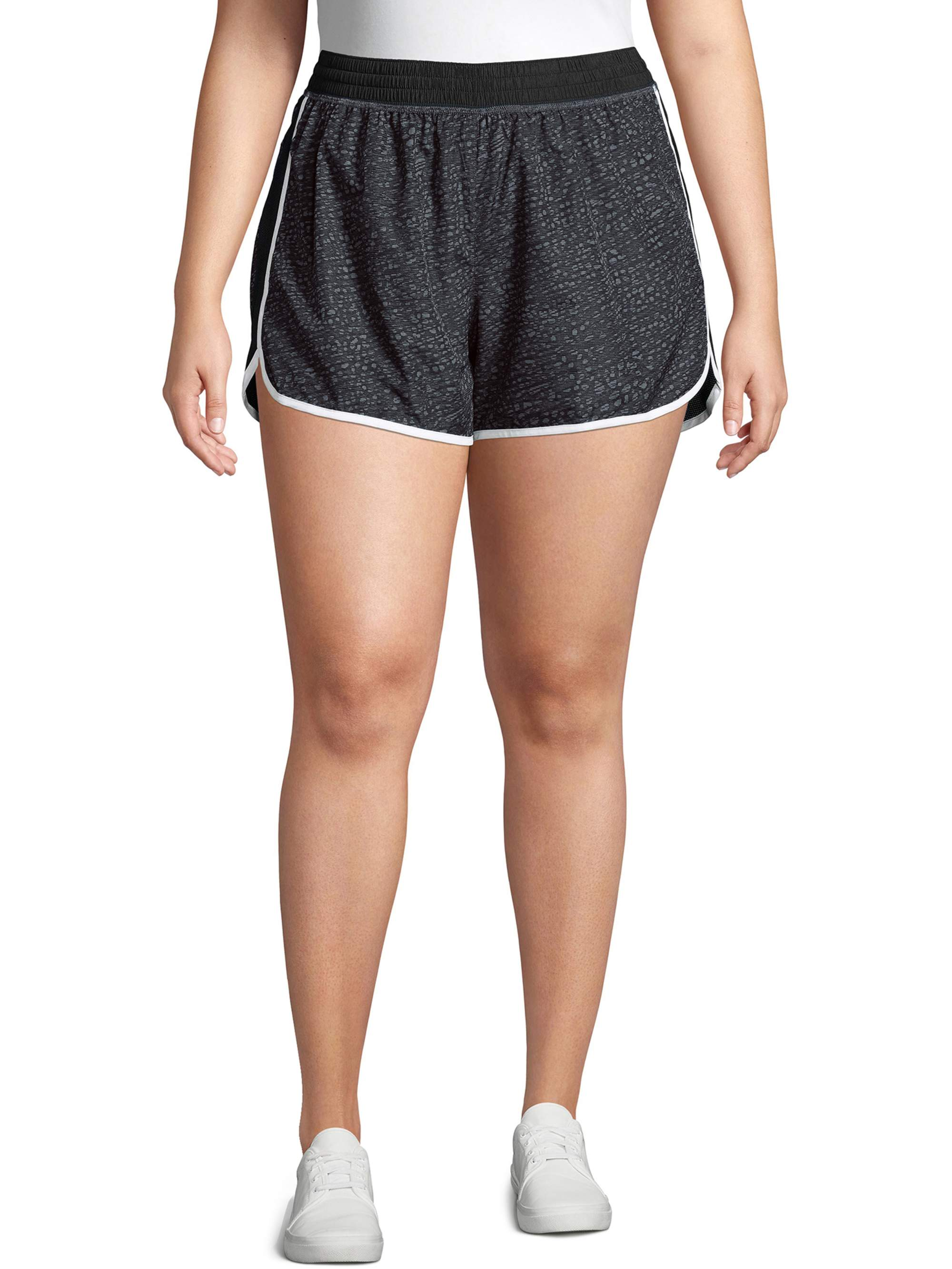 JUST MY SIZE Womens Plus Size Active Woven Run Short