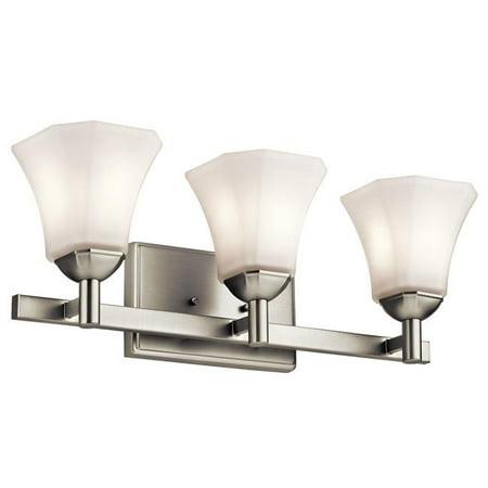 Kichler 45733NI Serina 100W 3 Light Bath Light, Brushed Nickel