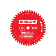 Diablo 7-1/4 in. Dia. x 5/8 in. Carbide Tip Circular Saw Blade 44 teeth 1 pc.