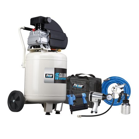 Pulsar 15 GALLON VERTICAL AIR COMPRESSOR WITH AIR TOOL