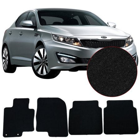 Fits 11-15 Kia Optima Floor Mats Front & Rear 4PC Black Nylon