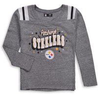 Product Image Pittsburgh Steelers New Era Girls Youth Starring Role Long  Sleeve Tri-Blend V-Neck 8416daca5