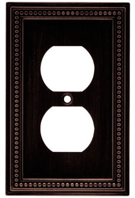 Duplex Wall Plate, 1-gang, Beaded Venetian Bronze Zinc, Brainerd, W10103-VBR-U by BRAINERD MFG CO/LIBERTY HDW