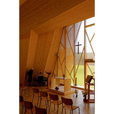 Canvas Print Switzerland Architecture Saint Loup Chapelle Chapel Stretched Canvas 10 x