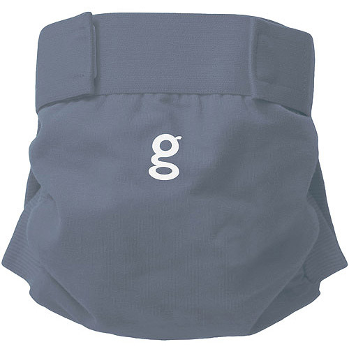 gDiapers Little gPants Reuseable Diaper, Goosey Grey (Choose Your Size)