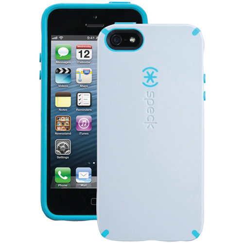CandyShell Case for iPhone 5/5S - Purple/Aqua - Bulk Packaging