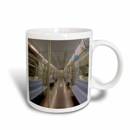 3dRose NYC subway car, empty, Ceramic Mug, (Empty Mug)
