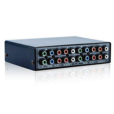 3 Port Component Av Video Switch Box Hub Splitter Rgb Selector Converter 3 Input 1 Output For Xbox 360 Wii Ps2 Ps3 Dvd