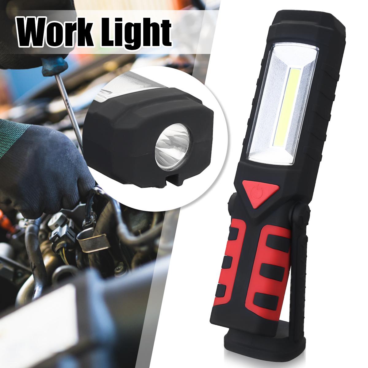 2Pcs Rechargeable Workbrite 2Pcs 150 Lumen LED Flashlight Magnetic Work Light ,Front light+Head light