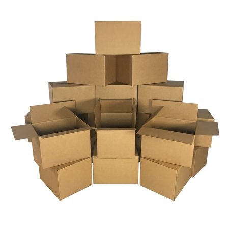 Uboxes Medium Moving Boxes, 18x14x12 in, 20 Pack, Cardboard Box - Round Cardboard Boxes