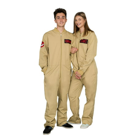 80s Jumpsuit Costume (Ghostbusters Adult Costume Zip up Jumpsuit with 4 Attachable)