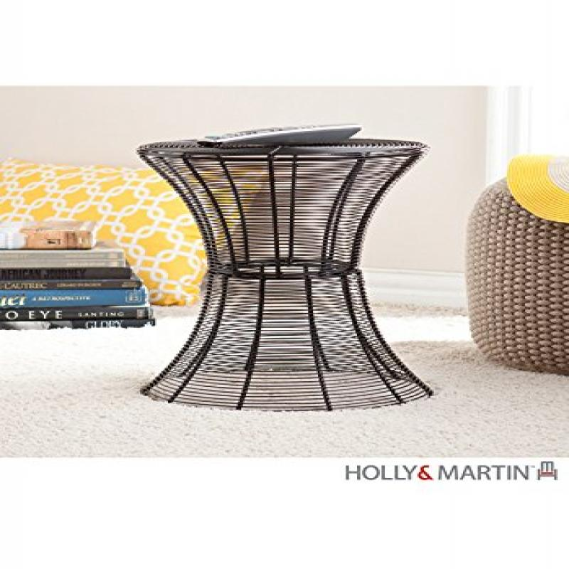 """Southern Enterprises Round Indoor-Outdoor 18.5"""" Metal Accent Table"""