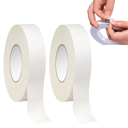 Dry Mount Adhesive (2 Rolls Double Sided Mounting Tape Strong Adhesive Transparent Clear 108 FT X 1