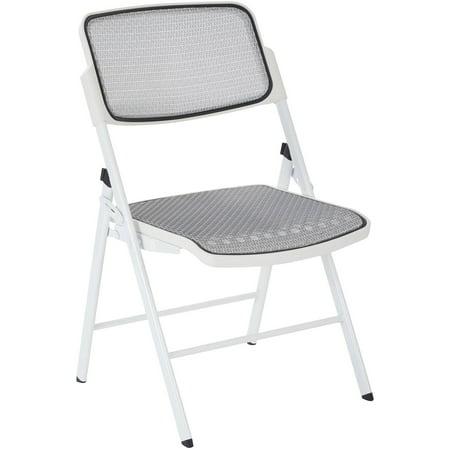 Deluxe Pro Grid Mesh Seat and Back Folding Chair, Ships 2 Per Carton, Multiple - 2 Folding Carton