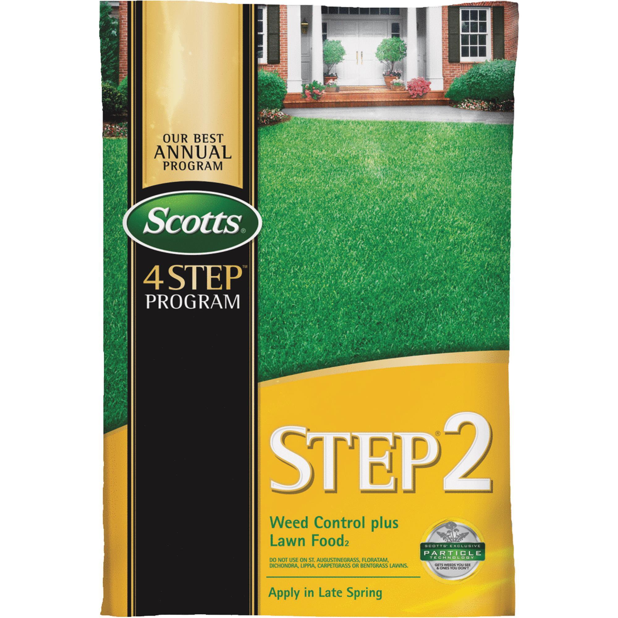 scotts 4-step program step 2 lawn fertilizer with weed killer
