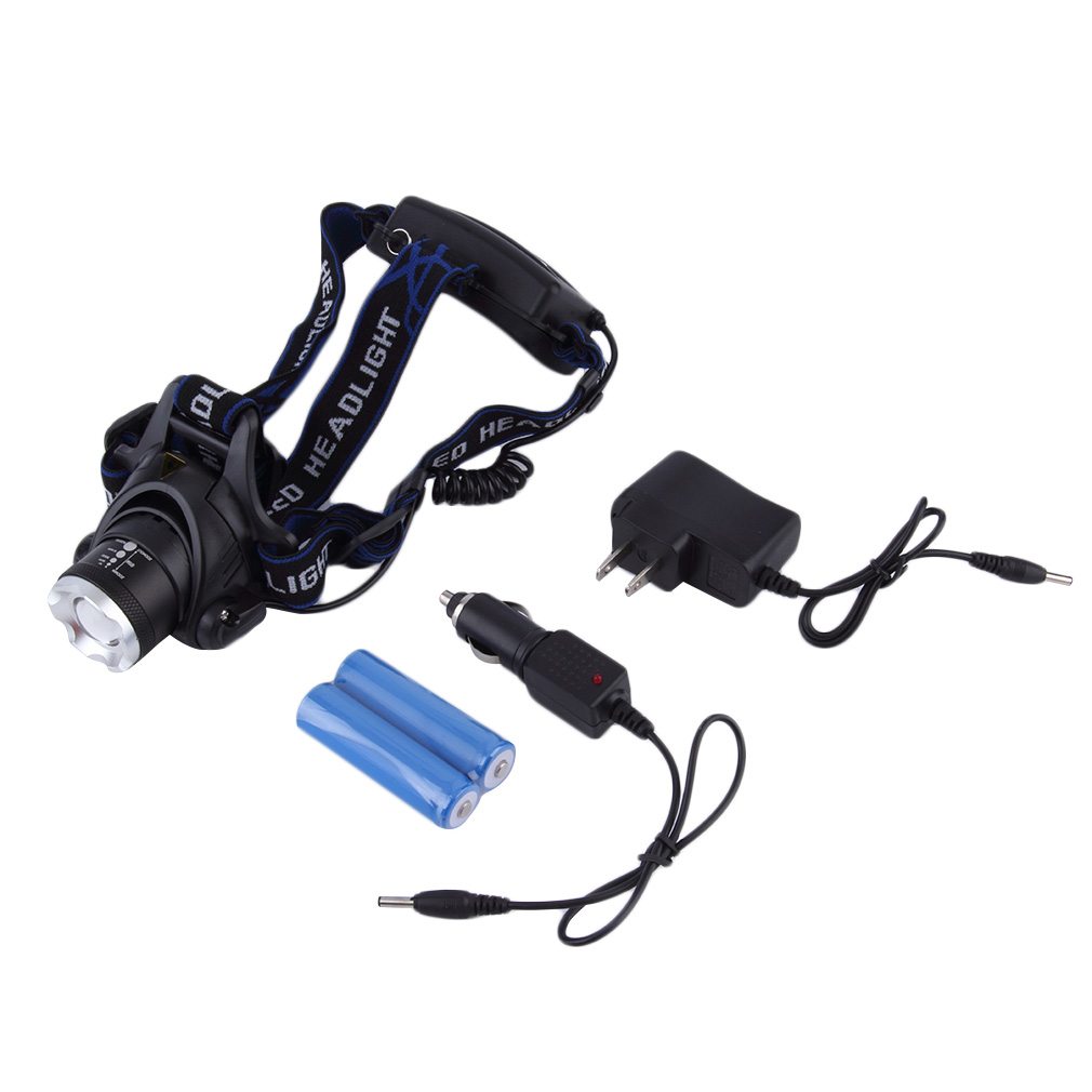 12W XML T6 LED 2000Lm Zoomable HeadLight HeadLamp Light & Car New