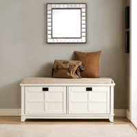 Adler Entryway Bench in White Finish