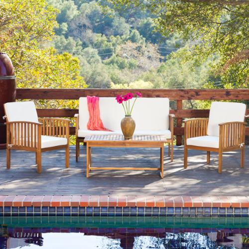 Maryann 4-piece Outdoor Acacia Sofa Set