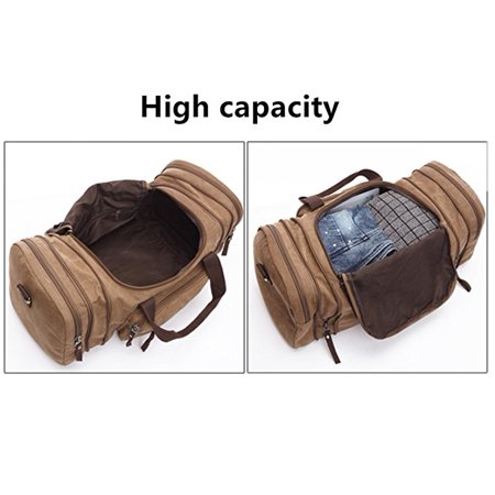 Bagail Men Vintage Canvas Travel Bag Tote Luggage Gym Duffle Bag Handbag  Weekend Bag - Walmart.com bb06a6a8d9291
