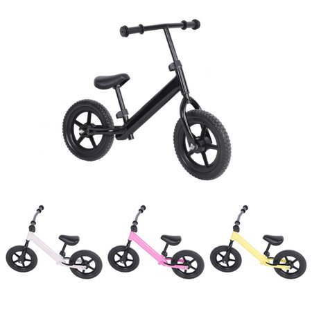 WALFRONT No-pedal Bicycle,Balance Bicycle,12inch Wheel Carbon Steel Kids Balance Bicycle Children No-Pedal Bike