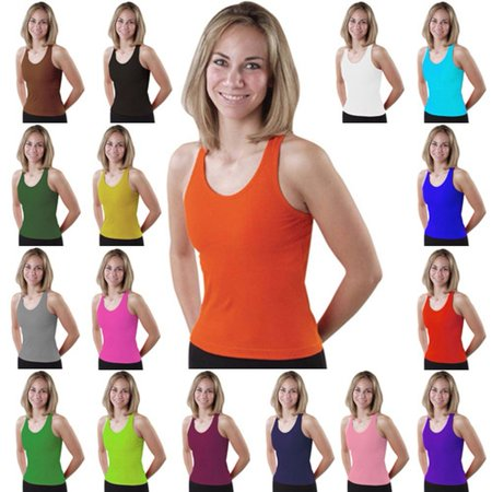 Pizzazz Womens Racer Back Cheer Dance Tank Top Shirt Adult S-XXL ()