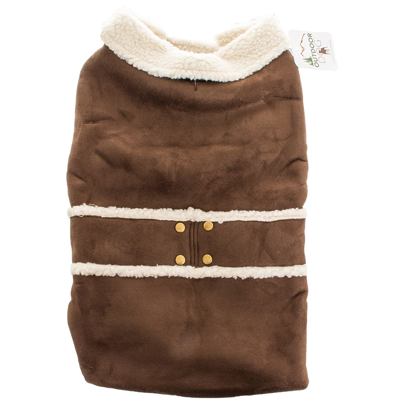 Ethical Shearling Brown Faux Suede Coat XX-LARGE