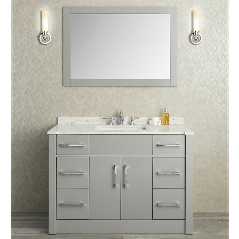 Single Sink Bathroom Vanity Set Taupe Gray