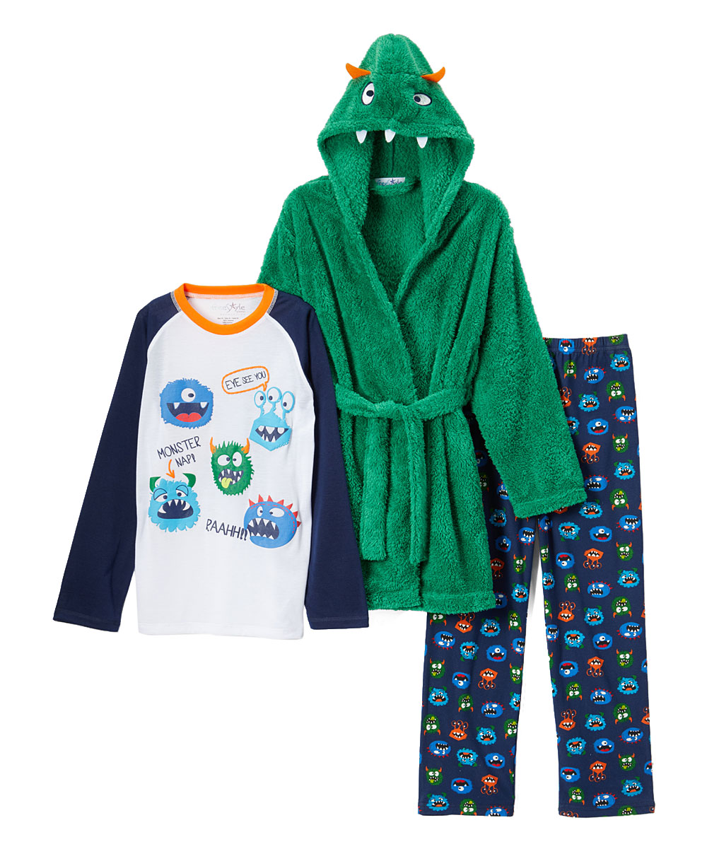 Freestyle Revolution Boy's 3 Piece Pajama Sleep Set With Robe (Little Boy & Big Boy)