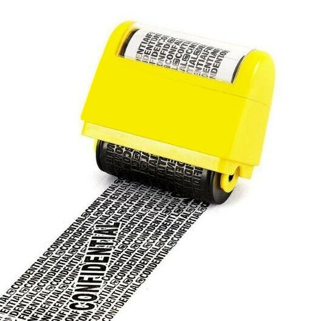 Confidential Ink Stamp - AMAZINGFORLESS - IDENTITY THEFT PREVENTION ROLLER STAMP CONFIDENTIAL DATA SECURITY PROTECTION STAMPS