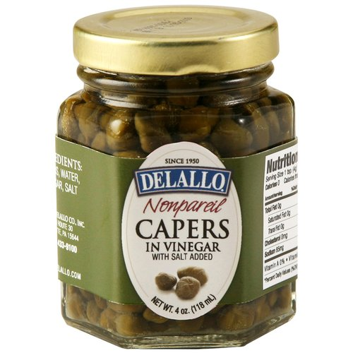 DeLallo Nonpareil Capers in Vinegar, 4 oz