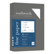 Southworth(R) 25% Cotton Business Paper, 8 1/2in. x 11in., 20 Lb, White, Box Of 500, 403C