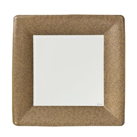 "Lillian Dinnerware Paper Plates, Square, 7"", Gold Texture, 24 Ct"